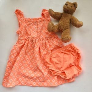 Baby Girl Carter's Orange Sundress & Bloomer